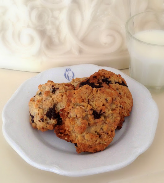 Oatmeal Sunflower Seed Chocolate Chip Cookies