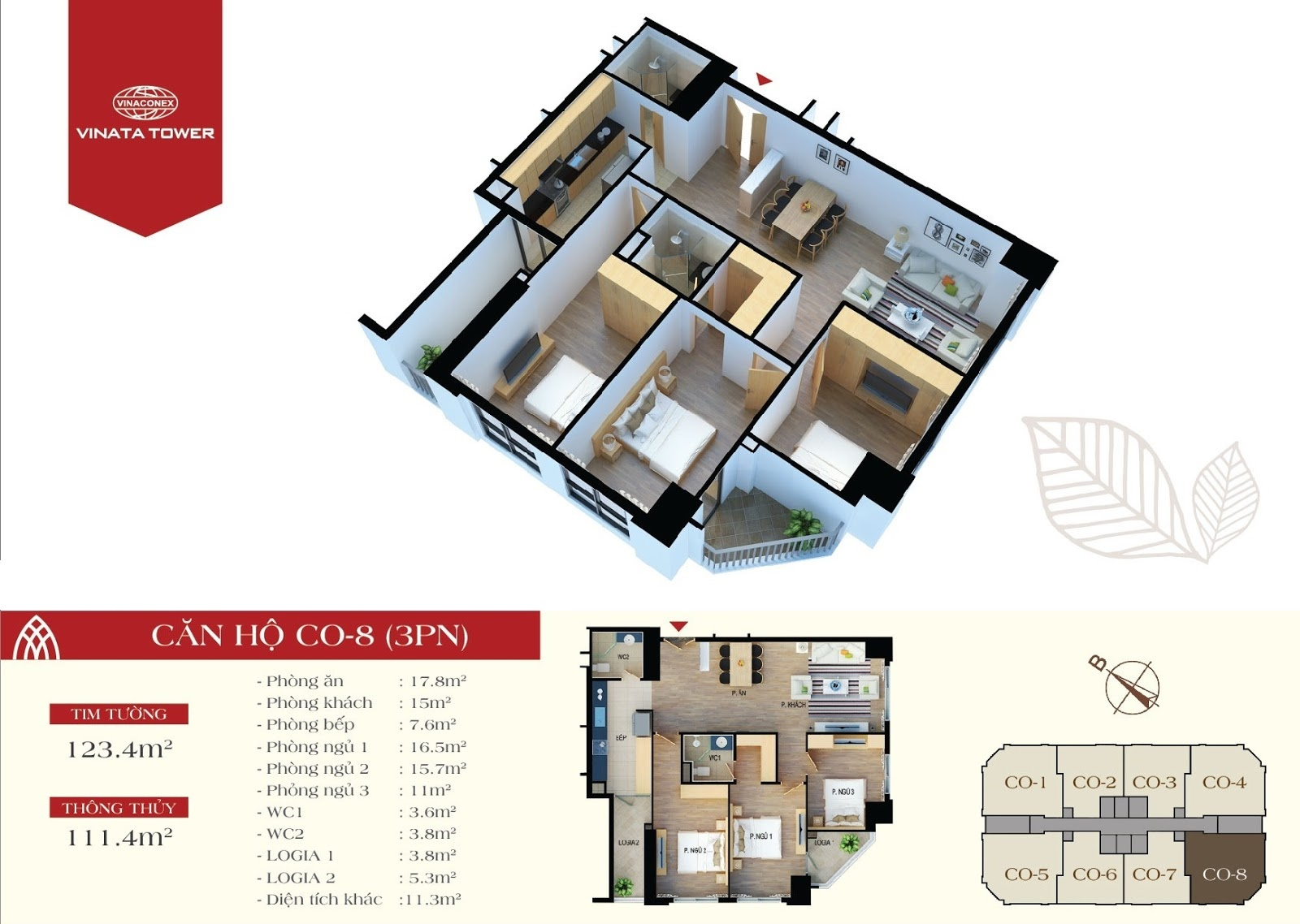căn hộ CO8 chung cư Vinata Tower