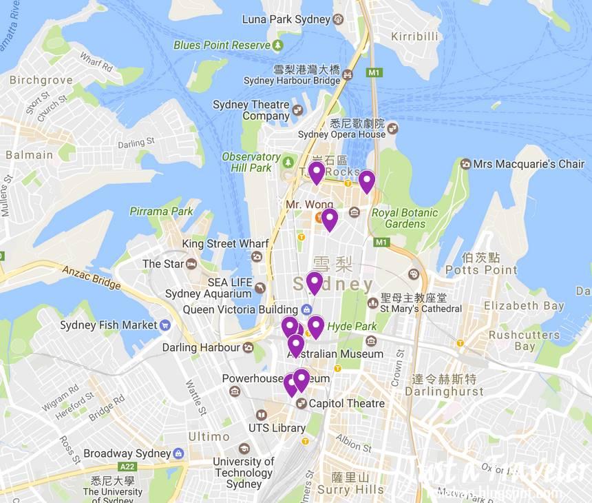 雪梨-住宿-地圖-Map-推薦-飯店-旅館-酒店-公寓-民宿-澳洲-Sydney-Hotel-Apartment-Travel-Australia