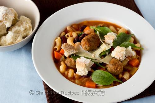 Italian Meatball Minestrone Soup02