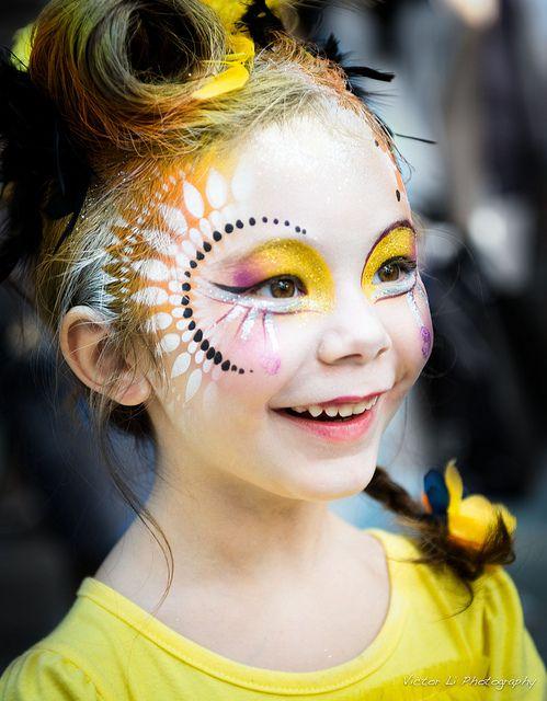 maquillage enfant motifs stencil cirque