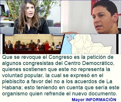 Congresistas del Centro Democrático piden revocatoria del Congreso
