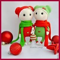 Muñecos navideños amigurumi