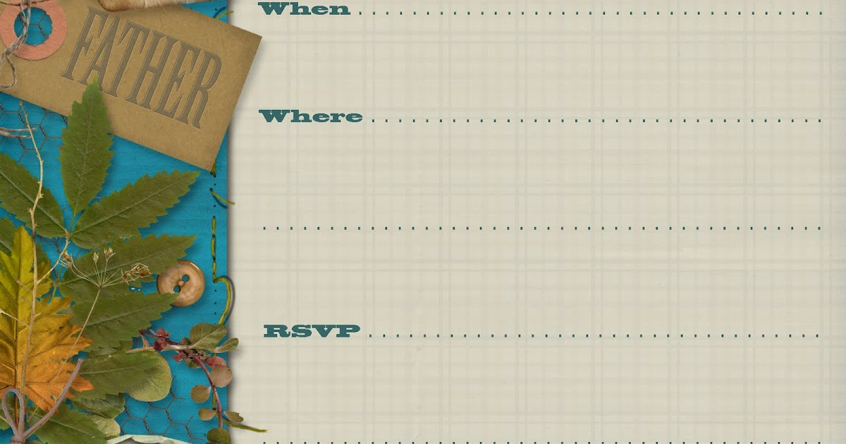 Free Printable Party Invitations: Fathers Day Party Square ...