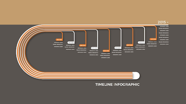 Timeline Infographics for Your Company History Shadow Effect