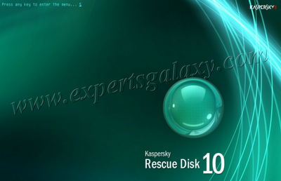 Rescue Disk Booot Screen