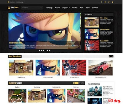 Tube Mag Blogger Template