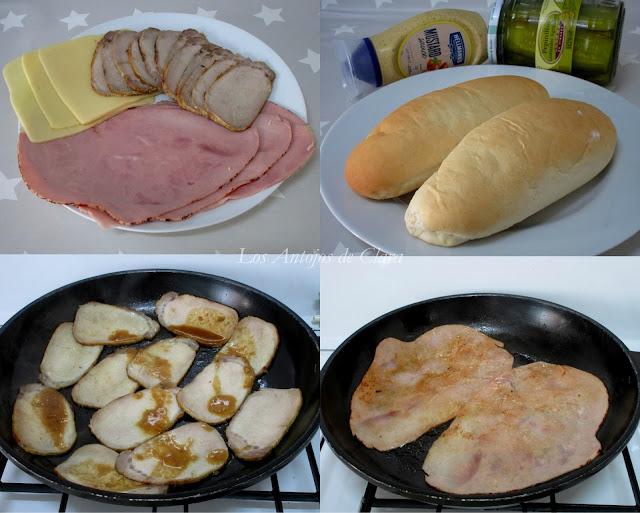 Ingredientes sándwich cubano