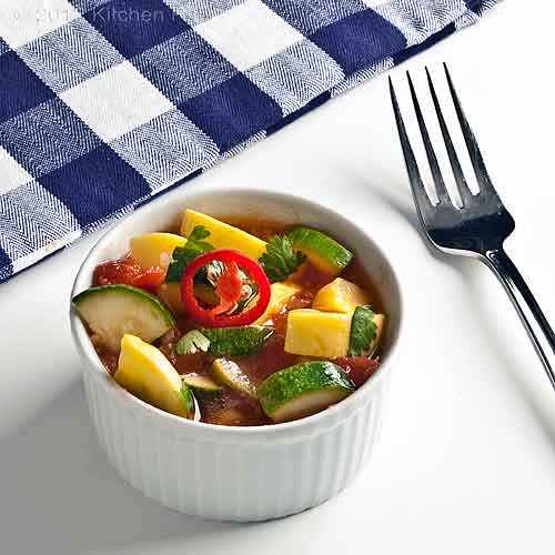 Summer Squash in Tomato Curry Sauce