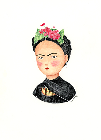 Frida Khalo illustration Yara Dutra