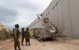 Israeli soldiers on Saturday opened fire at three suspected Hezbollah fighters on the Israeli-Lebanese border.