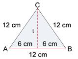 Maka tentukan luas segitiga dengan menggunakan rumus dibawah ini: Pembahasan: Langkah pertama adik-adik ambil garis tinggi dari segitiga tersebut