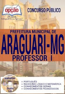 Apostila Prefeitura de Araguari-MG 2016 - Professor I