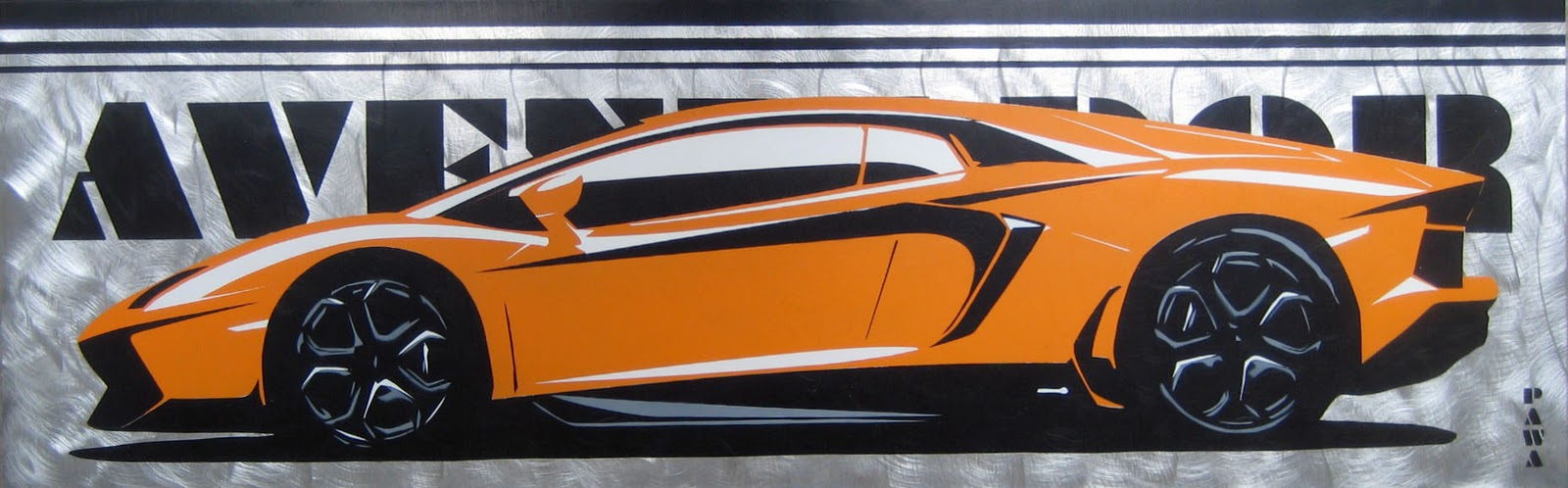 Stencil Art By Pawa Aventadorwhen One Lambo Just Isnt Enough