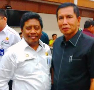 Dwik Akrab Bersama Ketua DPD Golkar Pekanbaru