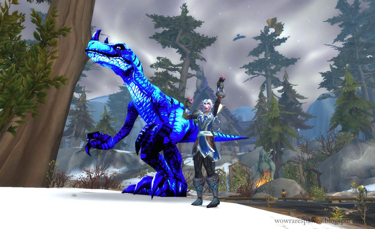 WoW Rare Spawns: Gon - Inky Blue Spirit Raptor