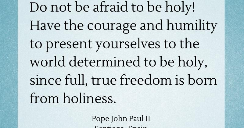 Pope John Paul Ii Quotes Youth: Saints 365: JPII Talks Holiness