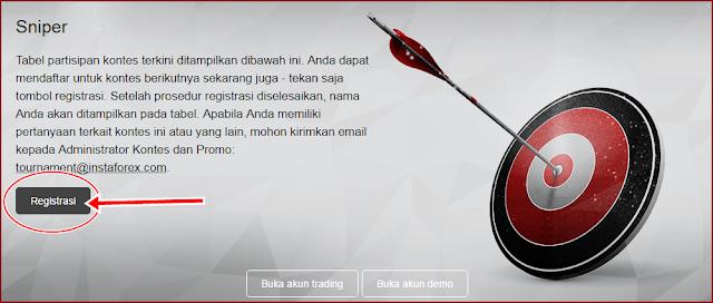 Kontes Forex Akun Demo berhadiah Real - Forex Sniper InstaForex