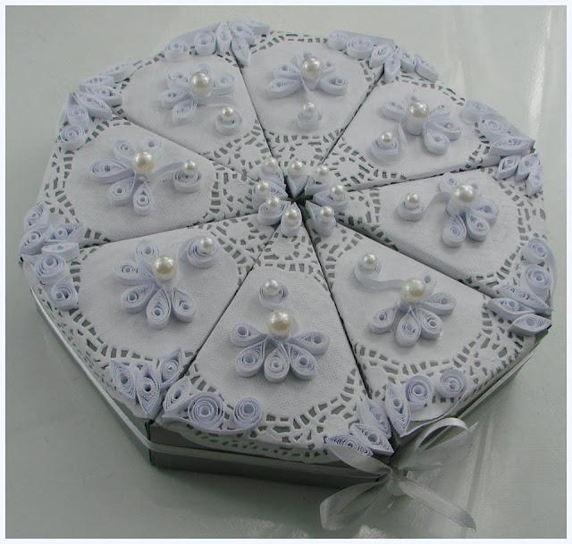 opakowanie w kształcie tortu