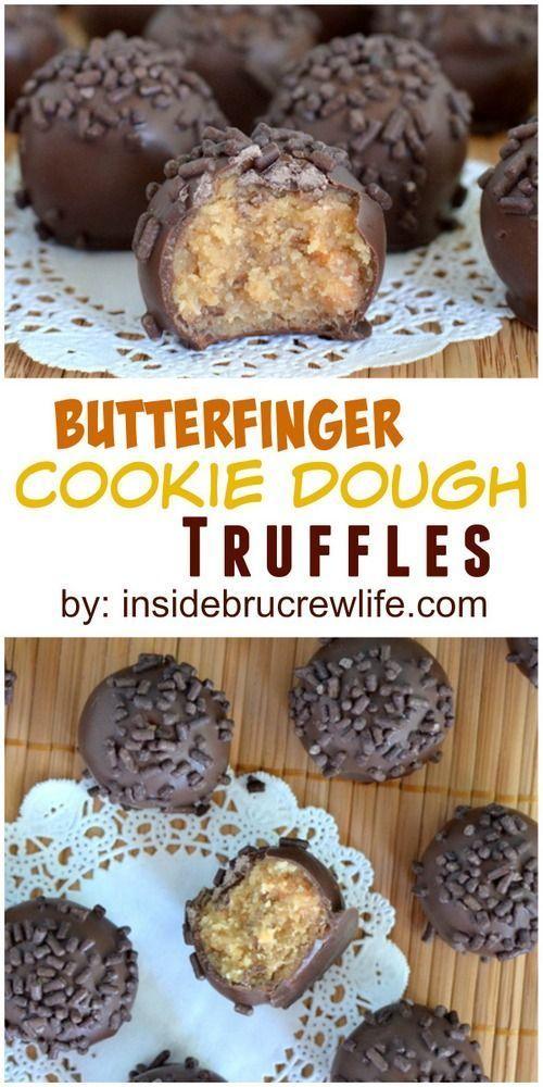BUTTERFINGER COOKIE DOUGH TRUFFLES #Butter #Butterfinger #Cookies #Dough #Truffles #Bestcookies #cookiesrecipe #Bitcookies #Dessert #Italiandessert #Canadadessert #Americandessert #USA
