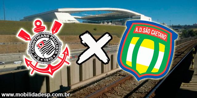 Jogo na Arena Corinthians muda itinerários de linhas
