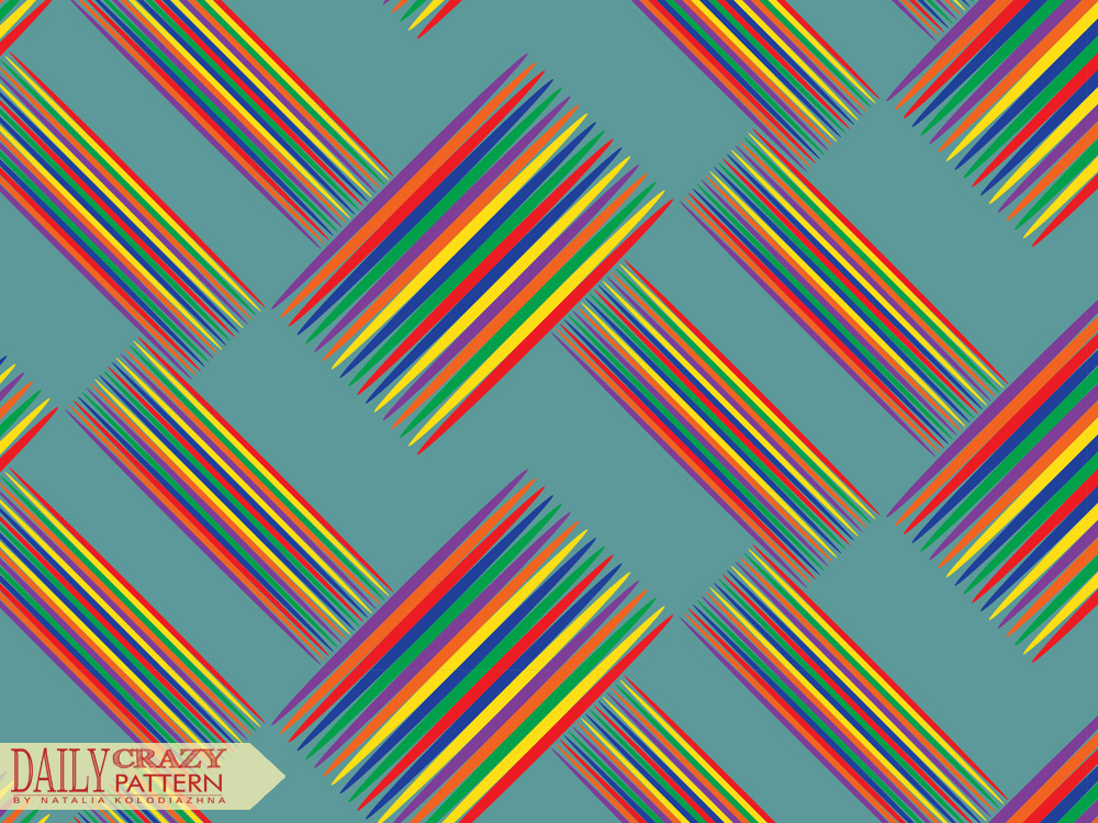 "Pattern with bright and colorful sticks for ""Daily Crazy Pattern"" project 