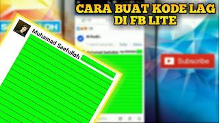 Facebook merupakan media sosial yang sangat banyak digunakan oleh masyarakat Kode rahasia FB Lite Wajib Untuk di Hapal