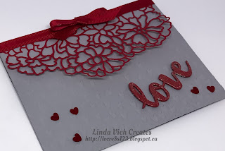 Linda Vich Creates: So Detailed Valentine. A highly textured card with a dynamic color scheme delivers a sweet Valentine message.