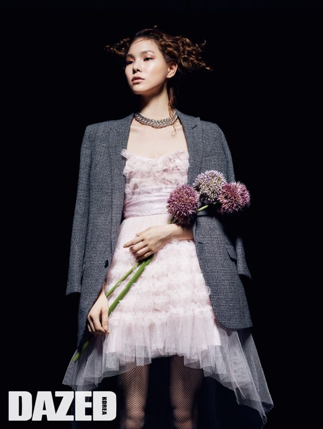 Saint Laurent 2015 AW Pink Strapless Tulle Prom Dress With Blazer Editorials