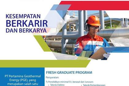Lowongan PT. PERTAMINA GEOTHERMAL ENERGY (PGE) November 2016