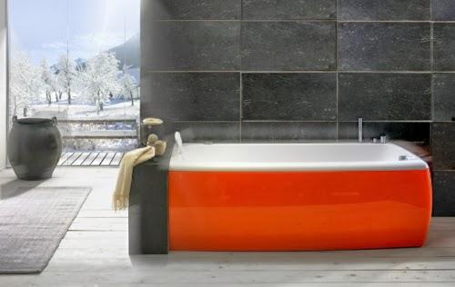 baño en rojo y negro