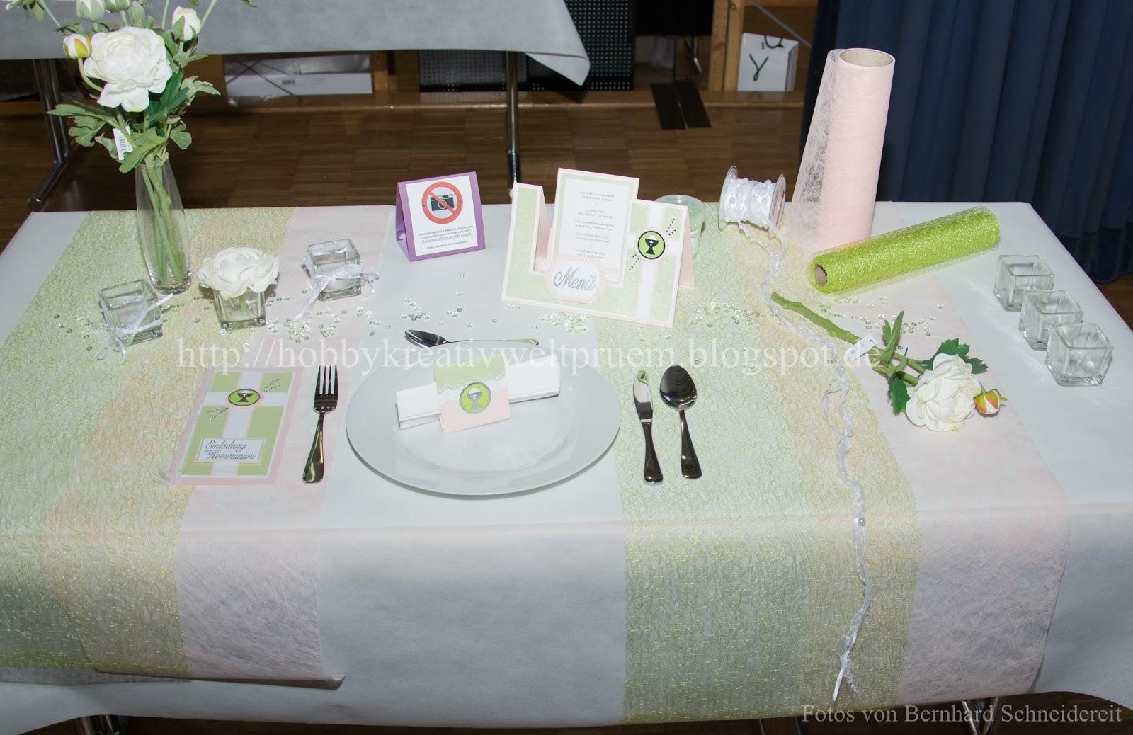 Hobby Kreativ Welt Tischdekoration Kommunion Konfirmation