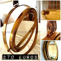 comprar espejo de laton vintage antiguo de barco Valencia Madrid