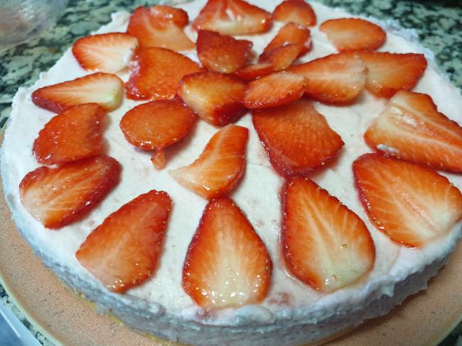 Tarta Mousse De Fresas