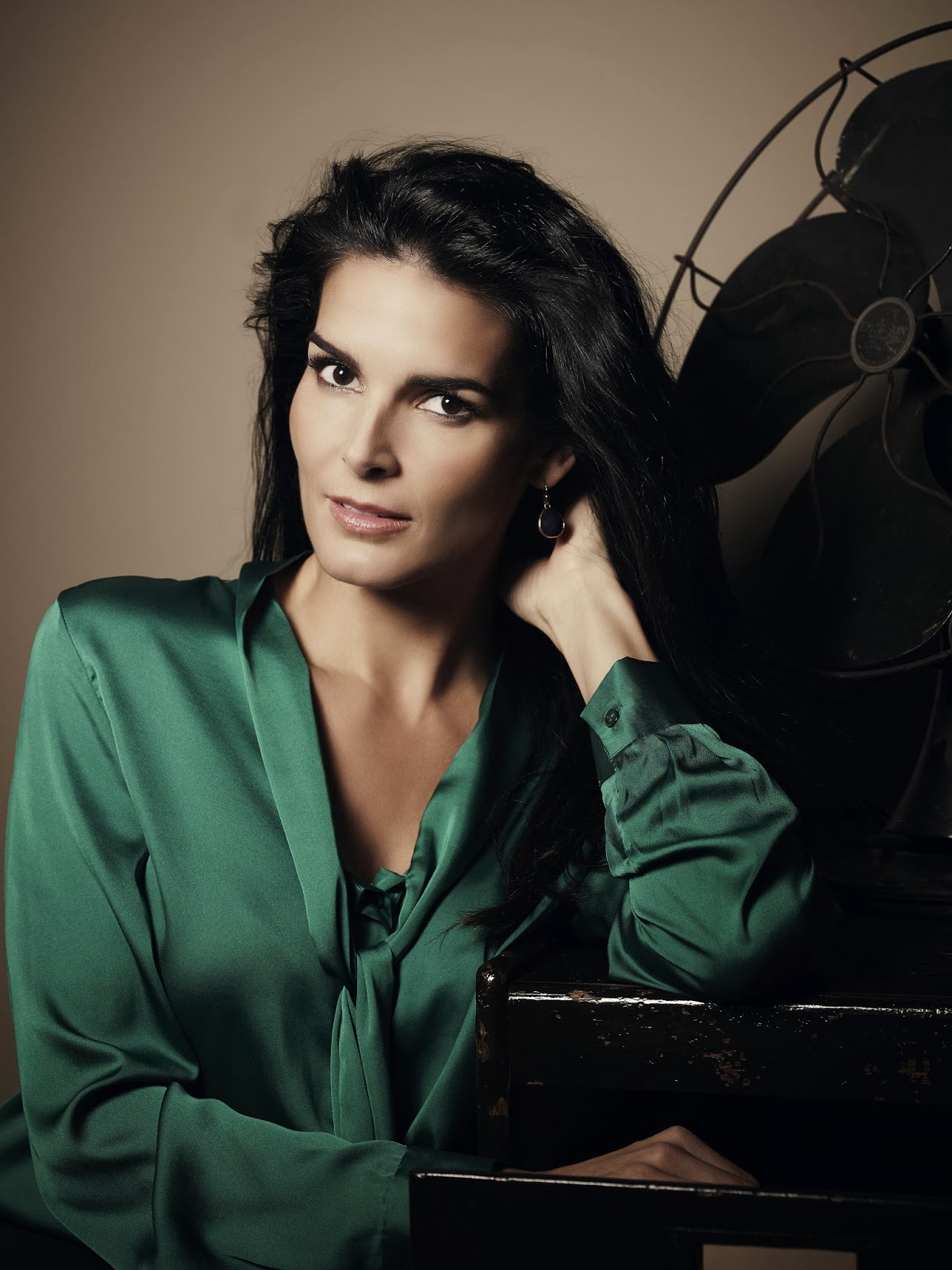 Angie Harmon At More Magazine September 2013: Ladies In Satin Blouses: Angie Harmon
