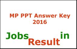 MP PPT Answer Key 2016