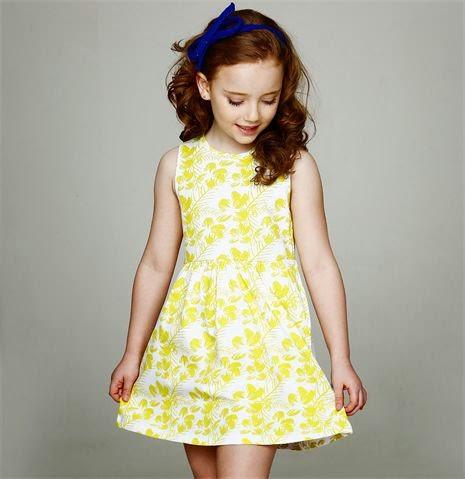 Vestido amarelo para meninas