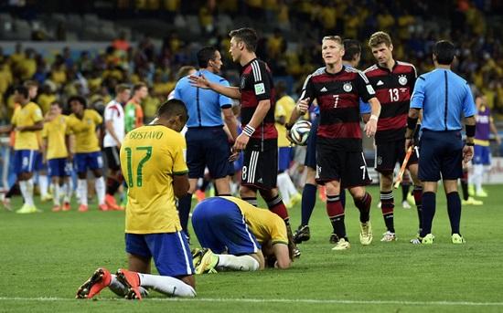 Brazil thua đậm 1-7 trước Đức