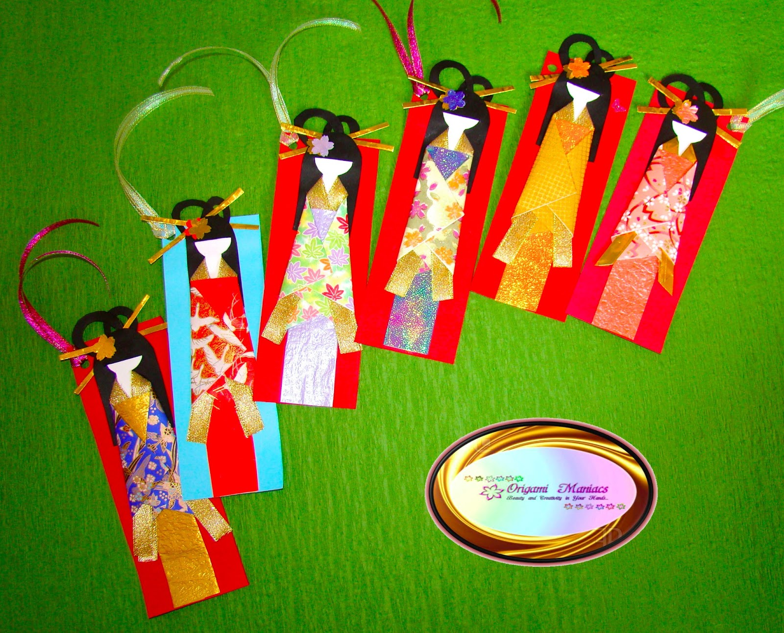 Buy Japanese Paper Doll Bookmark by Lily Lily Handmade, Folksy ... | 1291x1600