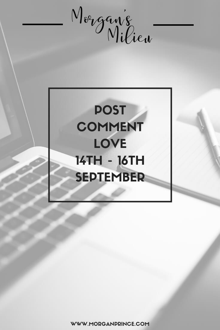 Join Stephanie and I for Post Comment Love this week - link up your favourite or best post of the week!