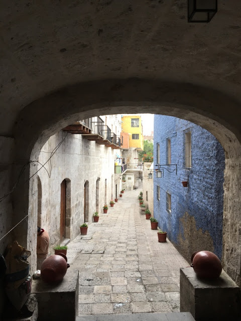 Spanish colonial buildings in Arequipa, Peru