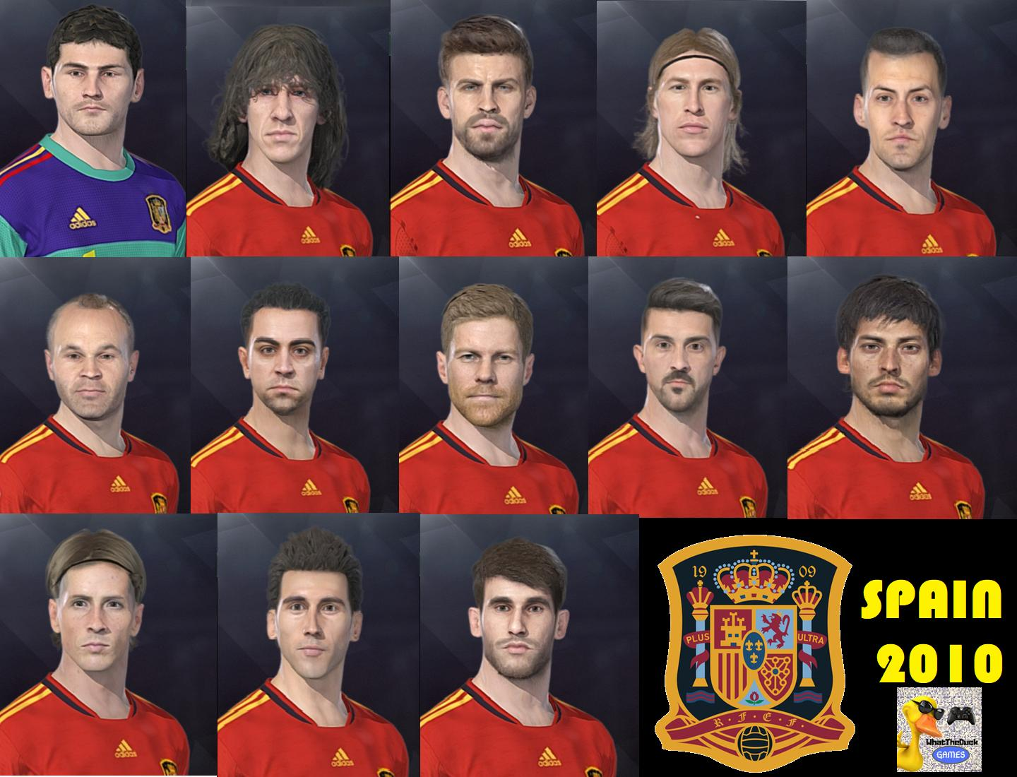 Spain's 2010 World Cup Team For PES 2018 by WhatTheDuck