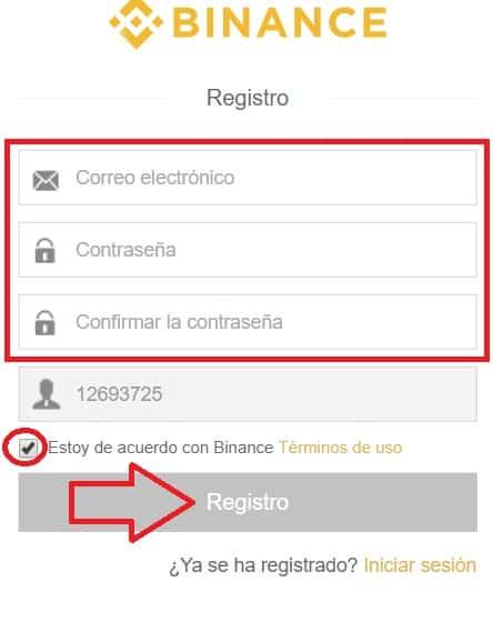 registro en binance nuevo usuario