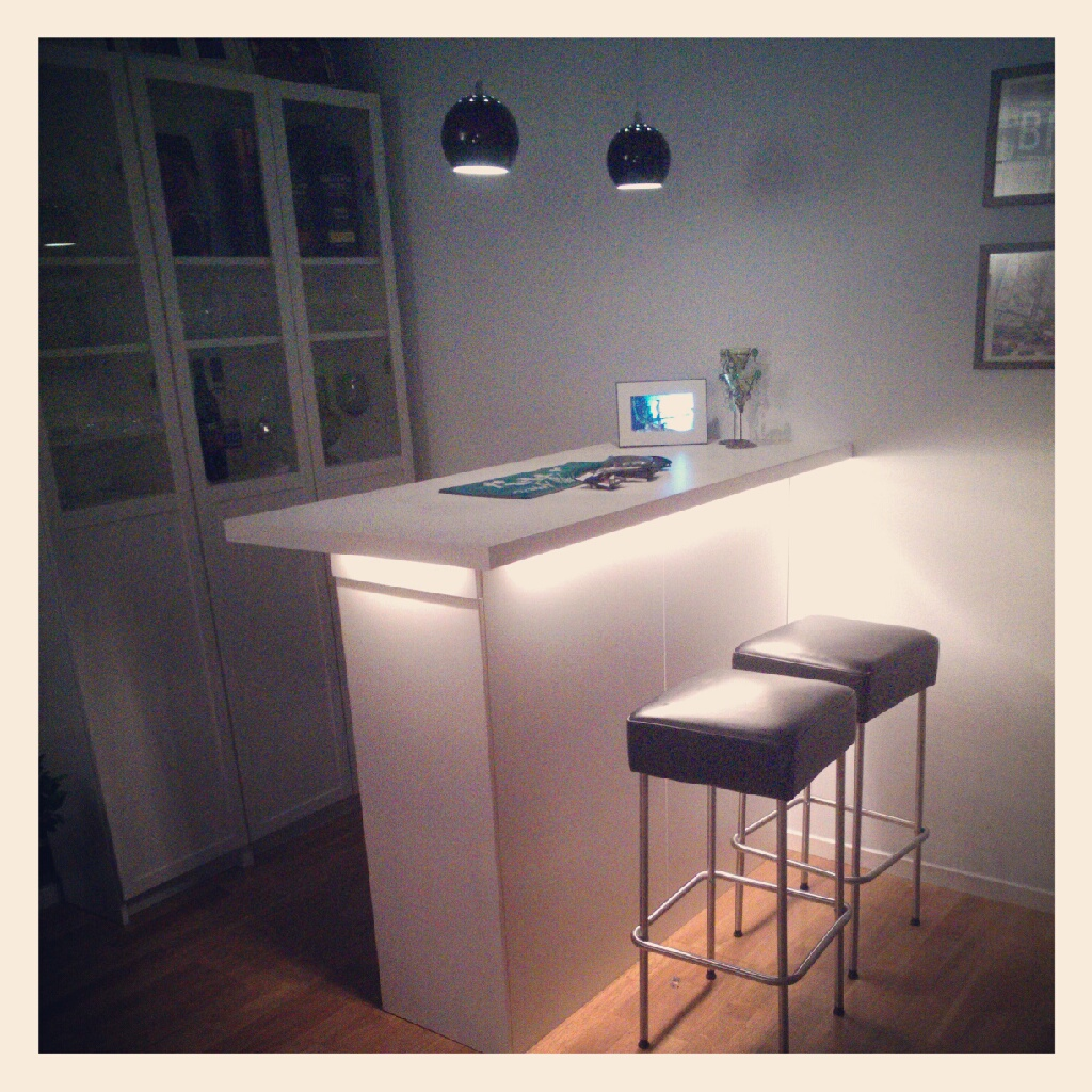 IKEA Hackers Kitchen Cabinets as a Bar