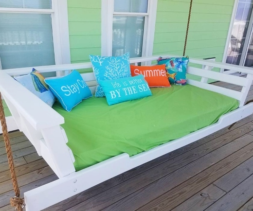 outdoor hanging swing daybed ideas