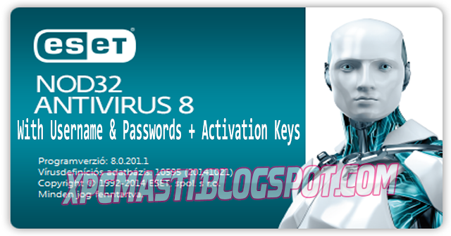 Download ESET Nod32 8 Username & Password With License + Activation Keys at XPCMasti.blogspot.com