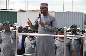 What Presidential directive? Nigeria Custom, boss Hamid Ali flies first class from London which cost about N3.4m