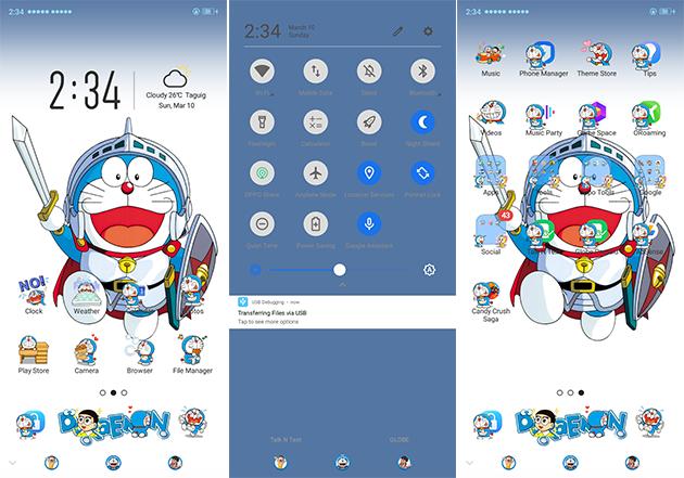 Oppo Theme: Oppo A3s Doraemon Theme