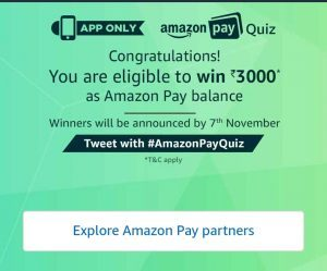 Pay Quiz amazon today quiz