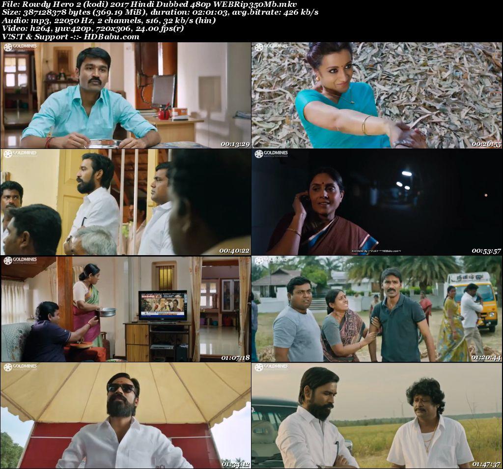 Rowdy Hero 2 (kodi) 2017 Hindi Dubbed 480p WEBRip 350MB Screenshot